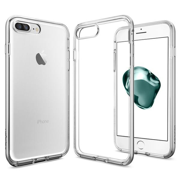 Neo Hybrid Crystal kryt iPhone 7 Plus Satin Silver (1)