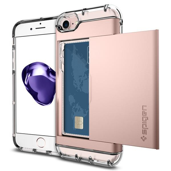 Crystal Wallet kryt iPhone 7 Rose Gold (1)