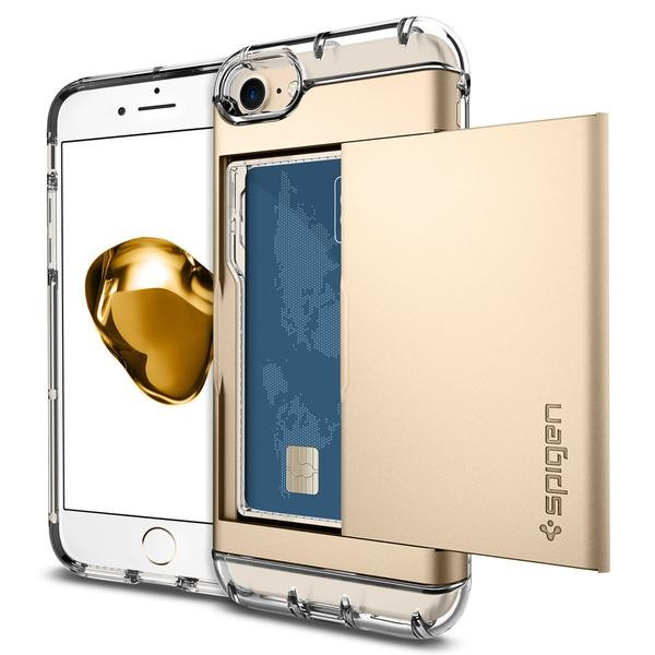 Crystal Wallet kryt iPhone 7 Champagne Gold (1)