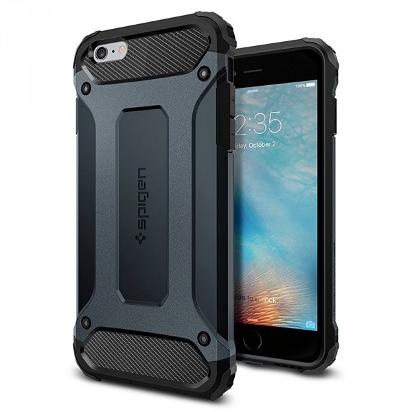 Tough Armor Tech kryt iPhone 6 Plus / 6S Plus Metal Slate (1)