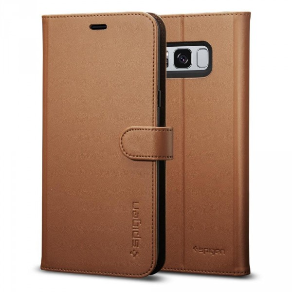 Wallet S kryt Galaxy S8 Brown (1)