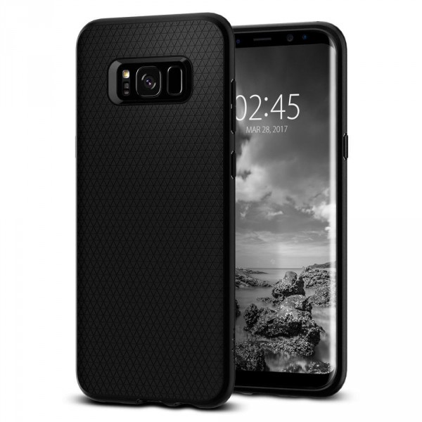 Liquid Air Armor kryt Galaxy S8 Matte Black (1)