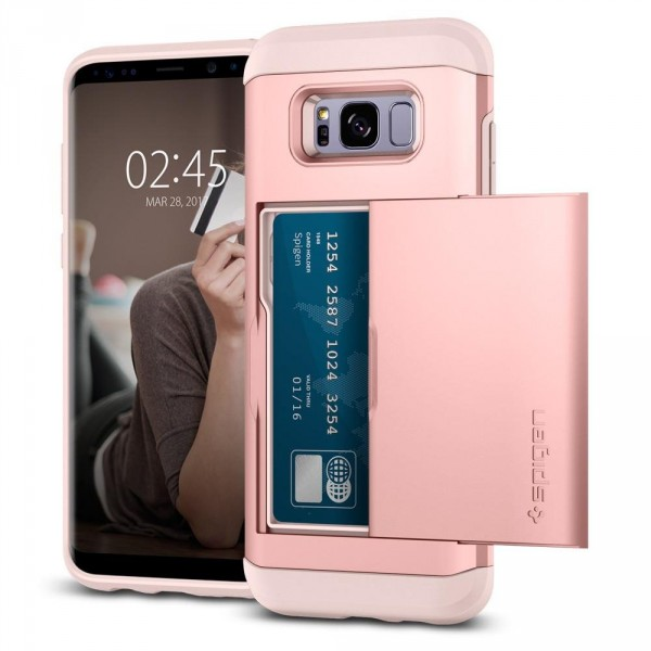 Slim Armor CS kryt Galaxy S8+ Rose Gold (1)