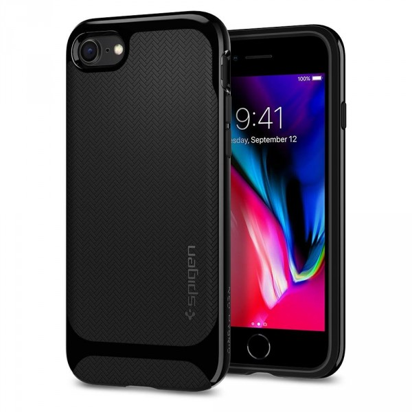 Neo Hybrid Herringbone kryt iPhone 8 Shiny Black (1)