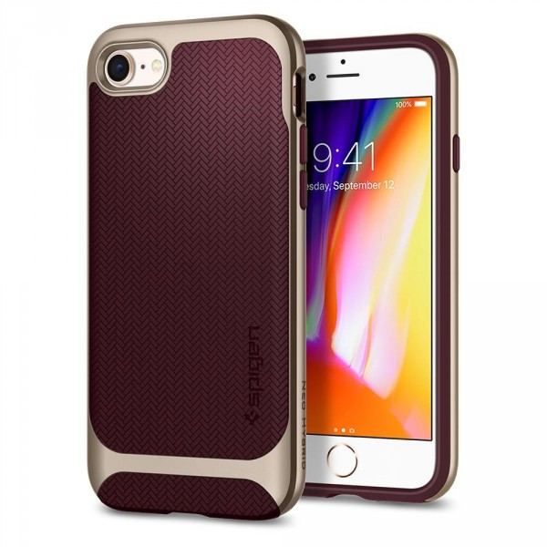 Neo Hybrid Herringbone kryt iPhone 8 Burgundy (1)