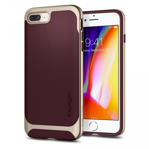 Neo Hybrid Herringbone kryt iPhone 8 Plus Burgundy (1)