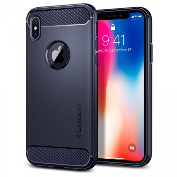 Rugged Armor kryt iPhone X Midnight Blue (1)