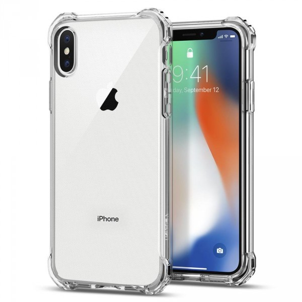 Rugged Crystal kryt iPhone X Crystal Clear (1)