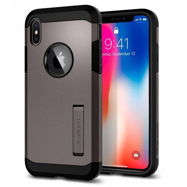 Tough Armor kryt iPhone X Gunmetal (1)