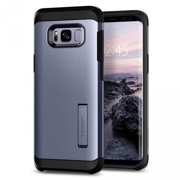 Tough Armor kryt Galaxy S8+ Orchid Gray (1)