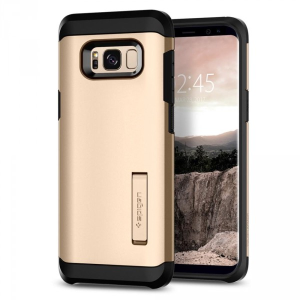 Tough Armor kryt Galaxy S8+ Gold Maple (1)