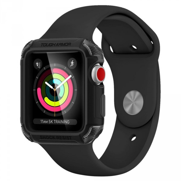 Tough Armor 2 pouzdro Apple Watch 3 / 2 / 1 [38 mm] Matte Black (1)