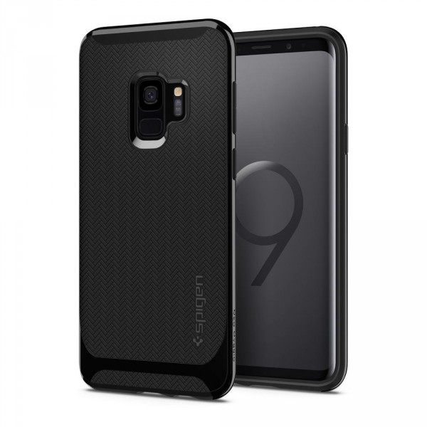 Neo Hybrid kryt Galaxy S9 Shiny Black (1)
