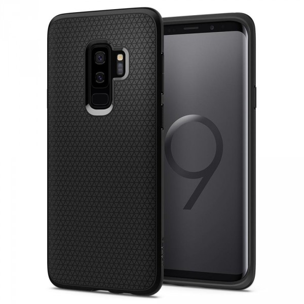 Liquid Air kryt Galaxy S9+ Matte Black (1)