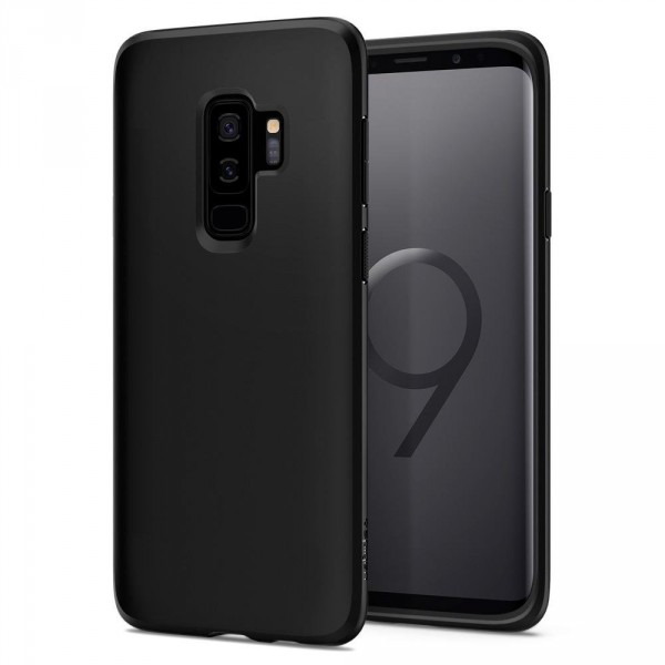 Liquid Crystal kryt Galaxy S9+ Matte Black (1)