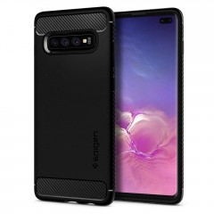 Spigen Rugged Armor kryt Galaxy S10+ Black