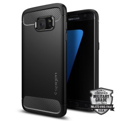 Spigen Rugged Armor kryt Galaxy S7 Edge Black