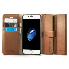 Spigen Wallet S pouzdro iPhone 7 / 8 Brown