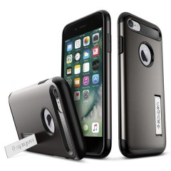 Slim Armor kryt iPhone 7 Gunmetal (6)