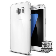 Spigen Ultra Hybrid kryt Galaxy S7 Edge Crystal Clear
