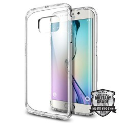 Spigen Ultra Hybrid kryt Galaxy S6 Edge Crystal Clear