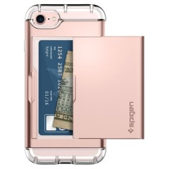 Crystal Wallet kryt iPhone 7 Rose Gold (8)