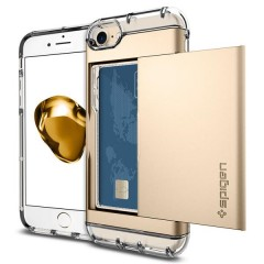 Spigen Crystal Wallet kryt iPhone 7 Champagne Gold