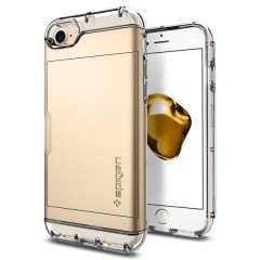 Crystal Wallet kryt iPhone 7 Champagne Gold (2)