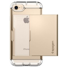 Crystal Wallet kryt iPhone 7 Champagne Gold (7)