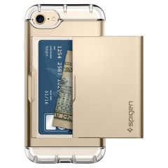 Crystal Wallet kryt iPhone 7 Champagne Gold (8)