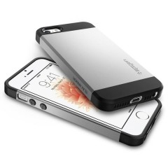 Slim Armor kryt iPhone SE / 5S / 5 Satin Silver (7)