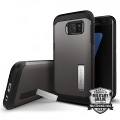 Spigen Tough Armor kryt Galaxy S7 Edge Gunmetal