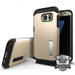 Spigen Tough Armor kryt Galaxy S7 Edge Champagne Gold