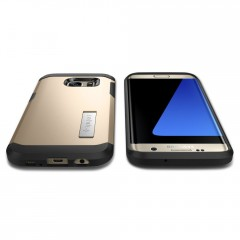 Tough Armor kryt Galaxy S7 Edge Champagne Gold (8)