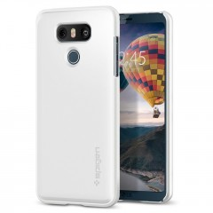 Spigen Thin Fit kryt LG G6 Shimmery White