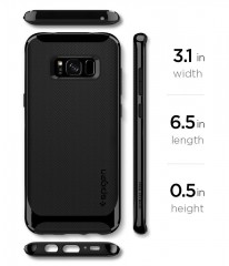Neo Hybrid kryt Galaxy S8 Shiny Black (8)