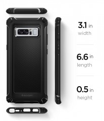 Rugged Armor Extra kryt Galaxy Note 8 Black (10)
