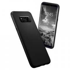 Liquid Air Armor kryt Galaxy S8 Matte Black (7)