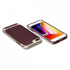 Neo Hybrid Herringbone kryt iPhone 8 Plus Burgundy (9)