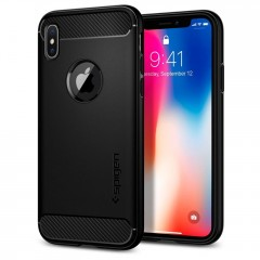 Spigen Rugged Armor kryt iPhone X / XS Black