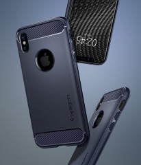 Rugged Armor kryt iPhone X Midnight Blue (10)