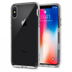 Neo Hybrid Crystal kryt iPhone X Satin Silver (1)
