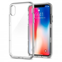 Neo Hybrid Crystal kryt iPhone X Satin Silver (2)