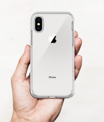 Neo Hybrid Crystal kryt iPhone X Satin Silver (12)