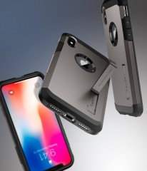 Tough Armor kryt iPhone X Gunmetal (9)