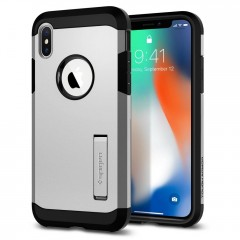 Spigen Tough Armor kryt iPhone X / XS Satin Silver