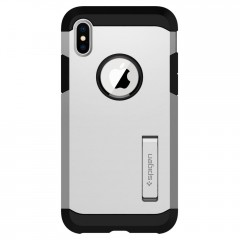 Tough Armor kryt iPhone X Satin Silver (2)
