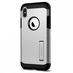 Tough Armor kryt iPhone X Satin Silver (3)