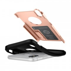 Tough Armor kryt iPhone X Blush Gold (7)