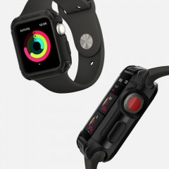 Tough Armor 2 pouzdro Apple Watch 3 / 2 / 1 [38 mm] Matte Black (11)